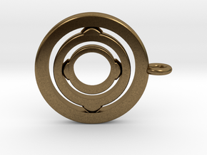 Rotating pendant orbit  in Natural Bronze (Interlocking Parts)