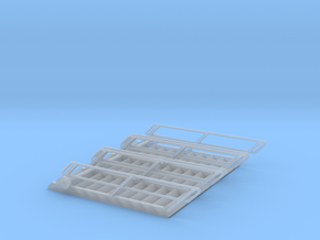 1:72 3x Stairs 11 in Smooth Fine Detail Plastic