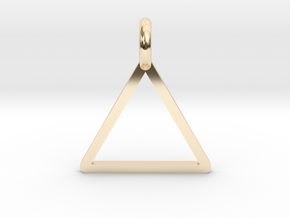 Triangle in 14k Gold Plated Brass