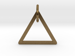 "Keychain ""Triangle"" in Natural Bronze (Interlocking Parts)"