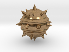High-Poly Stickybomb (Solid) in Natural Brass: Extra Small