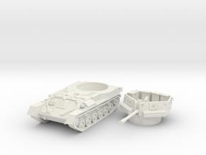 ZSU -37 tank (Russia) 1/87 in White Natural Versatile Plastic