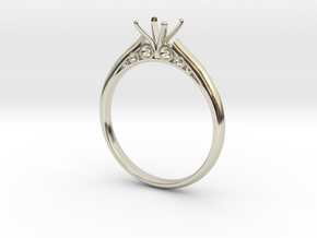 Engagement ring in 14k White Gold