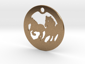 FREEDOM (precious metal earring/pendant) in Natural Brass