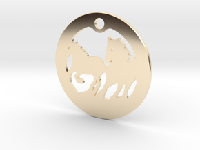 FREEDOM (precious metal earring/pendant) in 14K Yellow Gold