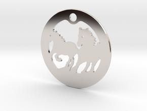 FREEDOM (precious metal earring/pendant) in Rhodium Plated Brass