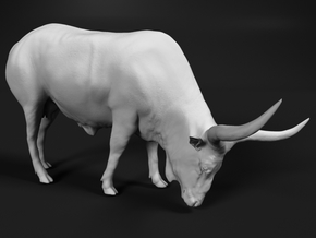 Ankole-Watusi 1:87 Grazing Female in Smooth Fine Detail Plastic