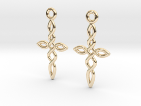 Celtic Weave Earrings - WE011 in 14k Gold Plated Brass