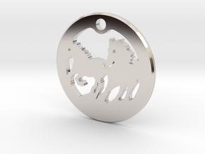 FREEDOM (precious metal pendant) in Rhodium Plated Brass