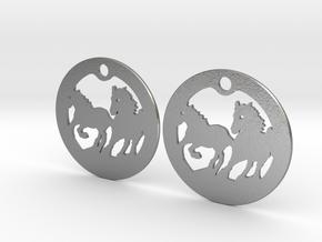 FREEDOM (precious metal earrings) in Natural Silver