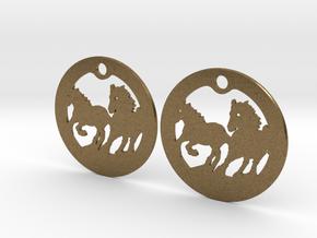 FREEDOM (precious metal earrings) in Natural Bronze