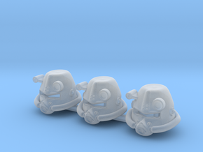 3 x SciFi Type F in Smooth Fine Detail Plastic