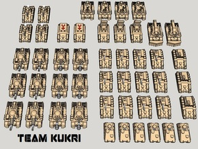 """3mm """"Team Kukri"""" Tracked Armor Task Force (48pcs) in Smooth Fine Detail Plastic"""