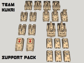 "3mm ""Team Kukri"" Tracked Support Group (21pcs) in Frosted Ultra Detail"