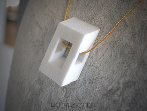 40 Degree ::: Square Pendant ::: v.01 in White Strong & Flexible Polished