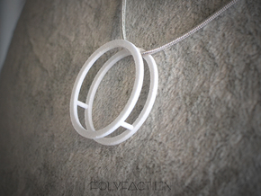 Wire ::: Circle Pendant ::: v.01 in White Processed Versatile Plastic