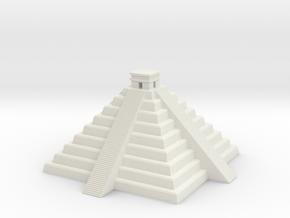 Inca Pyramid  in White Natural Versatile Plastic