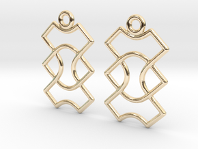Celtic Weave Earrings - WE015 in 14k Gold Plated Brass