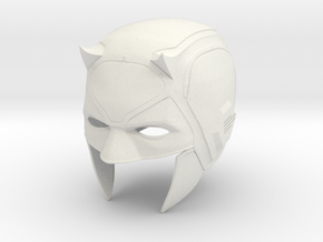 Daredevil: Netflix Season 1 cowl/helmet  in White Natural Versatile Plastic