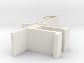 Blind Valance Clip 09P in White Natural Versatile Plastic