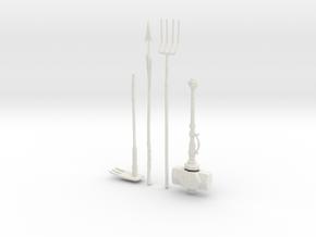 """BotW"" Hylian Tools Set in White Natural Versatile Plastic: 1:12"