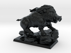 Rashnar, King of the Hogs in Black Hi-Def Acrylate