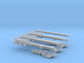 N Wind Blade Trailer (Expandable) 3-Pack in Smooth Fine Detail Plastic