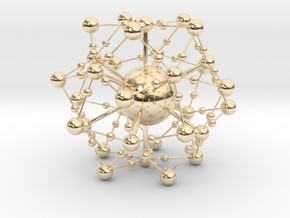 Complex Fractal Molecule in 14k Gold Plated Brass
