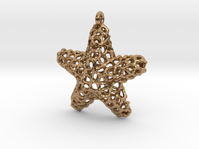 Starfish Pendant (Earrings) in Polished Brass