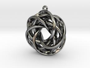 Interlocked tori earrings in Polished Silver
