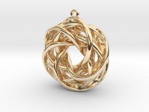 Interlocked tori earrings in 14k Gold Plated Brass