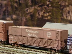 "SP Pulp Gondola Extension 10'-7"" N Scale in Smooth Fine Detail Plastic"