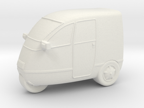Covered Trike Scooter in White Natural Versatile Plastic