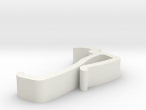 Blind Valance Clip 17B in White Natural Versatile Plastic