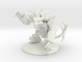 Extinxion in Battle Form, 28mm Scale Mini in White Natural Versatile Plastic