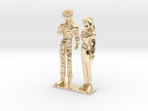 1/24 Racing Driver and Team Owner Conversing in 14k Gold Plated Brass