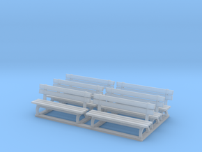 Park bench 01. HO Scale (1:87) in Smooth Fine Detail Plastic