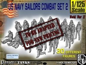 1/125 US Navy Sailors Combat SET 2 in Transparent Acrylic