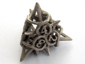 Thorn Die4 in Polished Bronzed Silver Steel