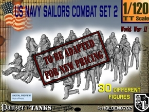 1/120 US Navy Sailors Combat SET 2 in Transparent Acrylic