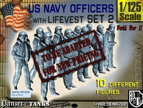 1-125 USN Officers KAPOK Set2 in Transparent Acrylic