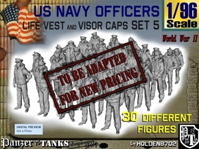 1-96 USN Officers KAPOK Set5 in Transparent Acrylic