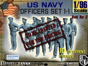 1-96 USN Officers Set1-1 in Transparent Acrylic