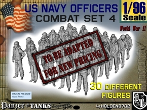 1-96 USN Officers KAPOK Set4 in Transparent Acrylic