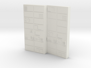 Computer Bank Type 1 Season 1 (Space: 1999), 1/30 in White Natural Versatile Plastic