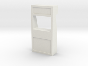 Wall, Exterior, Window - Notch (Space: 1999), 1/30 in White Natural Versatile Plastic
