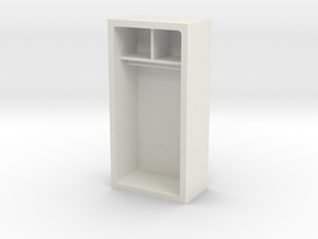 Wall, Storage Unit (Space:1999) 1/30 in White Natural Versatile Plastic