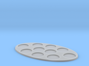 Oval Diorama Movement Tray - 25mm Round Slots in Smooth Fine Detail Plastic