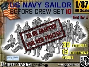 1-87 USN Bofors OKI Crew SET 10 in Transparent Acrylic