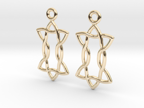 Celtic Weave Earrings - WE022 in 14k Gold Plated Brass